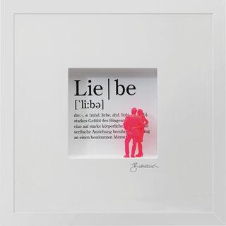 """3D-Bild """"Definition der Liebe"""", gerahmt"""