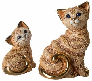 """2 Keramikfiguren """"Katzenfamilie"""" im Set"""