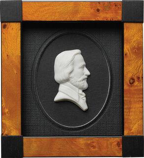 "Miniatur-Porzellanbild ""Guiseppe Verdi"", gerahmt"