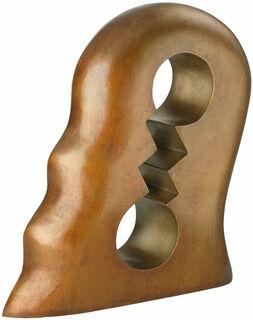 """Skulptur """"Kopf mit Innenleben"""", Bronze"""