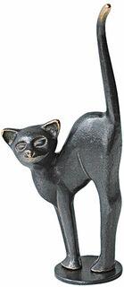 """Skulptur """"Katze mit Buckel"""", Bronze"""