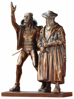 "Skulpturengruppe ""Faust und Mephisto"", Reduktion in Bronze"