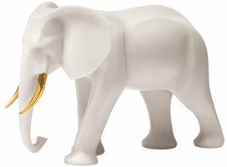 """Skulptur """"Elefant"""", Version Kunstmarmor"""