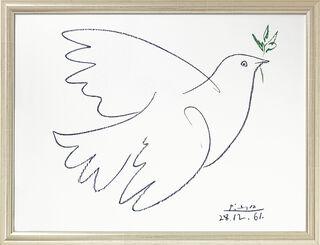 """Bild """"Friedenstaube"""" (1961), gerahmt"""