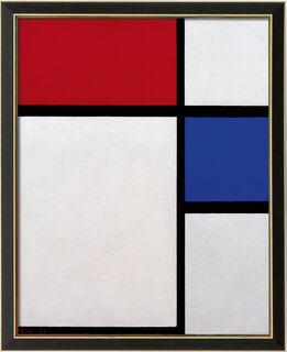 """Bild """"Komposition No. II, mit Rot und Blau"""" (1929), gerahmt"""