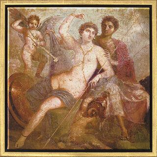"Wandmalerei aus Pompeji: Bild ""Mars und Venus"", gerahmt"