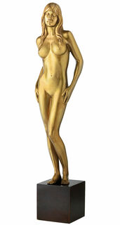 "Skulptur ""Hingabe"", Bronze"