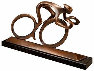 """Skulptur """"Radler"""", Version in Bronze"""