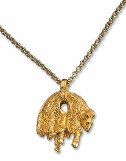 """Anhänger """"Goldenes Vlies"""" mit Halskette"""