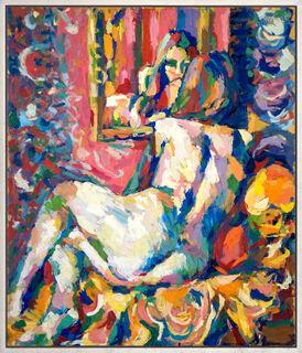 """Bild """"Akt vorm Spiegel"""" (1983) (Unikat)"""