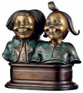 """Skulptur """"Max und Moritz"""", Version in Kunstbronze"""
