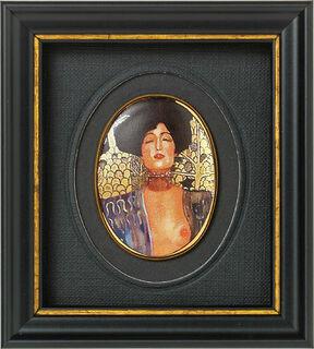 "Miniatur-Porzellanbild ""Judith I"" (1901), gerahmt"