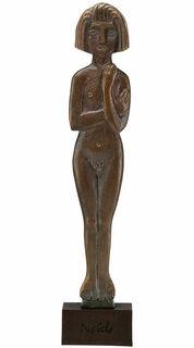 """Skulptur """"Stehende Frau"""" (1913/14), Bronze"""