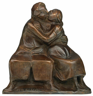 "Skulptur ""Kussgruppe I"" (1921), Bronze"