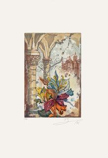 """Bild """"Blüte mit Säule links"""" (2008), ungerahmt"""