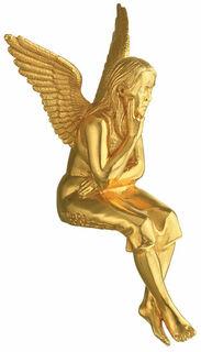 """Skulptur """"Schutzengel"""", Version vergoldet (ohne Sockel)"""