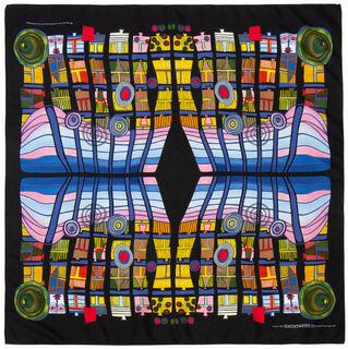 "Seidenfoulard ""Escape of the indoor sky"" (1978)"