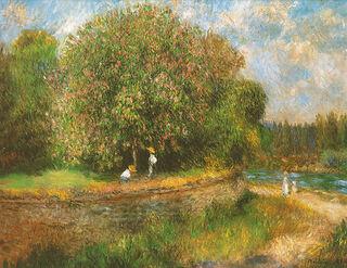"""Bild """"Blühender Kastanienbaum"""" (1881), auf Keilrahmen"""