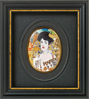 "Miniatur-Porzellanbild ""Adele Bloch-Bauer"" (um 1907), gerahmt"