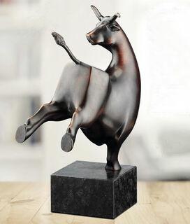 """Skulptur """"Der tanzende Stier"""", Bronze"""