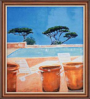 """Bild """"Pool"""" (1999), gerahmt"""