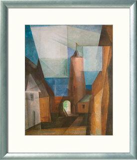 """Bild """"Der Grützturm in Treptow an der Rega"""" (1928), gerahmt"""