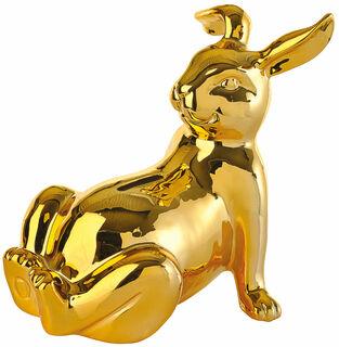 "Spardose ""Golden Bunny"", Porzellan goldfarben glasiert"