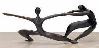 """Skulptur """"Hier und dort - Gegensatz"""", Bronze"""