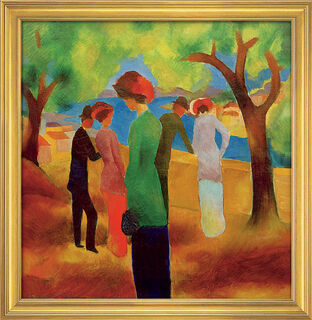 """Bild """"Mädchen in grüner Jacke"""" (1913), gerahmt"""