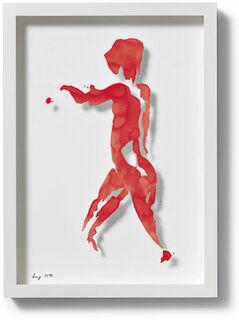 """Bild """"Einblick (rot)"""", 2010"""