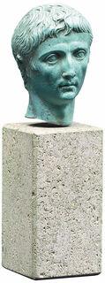 """Porträtkopf """"Augustus"""", Kunstguss"""