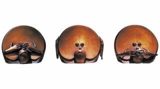 """Skulpturengruppe """"Nicht Sehen - Nicht Hören - Nicht Sprechen"""", Bronze"""