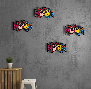 "Art Panel / Wandobjekt ""Fishes love"""