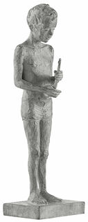"Skulptur ""Knabe"", Bronze"