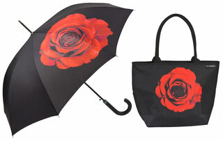 "Stockschirm und Shopper ""Meditative Rose"" im Set"
