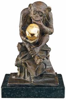 """Skulptur """"Affe mit Schädel"""" (1892-93), Version in Bronze"""