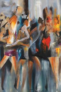 """Bild """"Zusammenkunft I"""" (2014), auf Keilrahmen"""