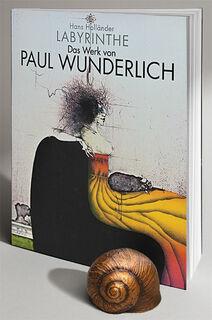 """Buch """"Labyrinthe - Das Werk von Paul Wunderlich"""" - mit Skulptur """"Schneckenhaus"""""""