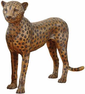 "Skulptur ""Gepard stehend"", Bronze"