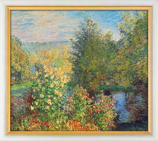 """Bild """"Stiller Winkel im Garten von Montgeron"""" (1876), gerahmt"""