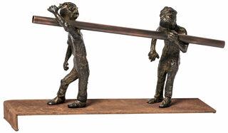 "Skulptur ""Teamwork"", Bronze"