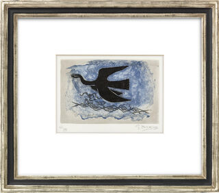 "Bild ""Oiseau noir sur fond bleu (Oiseau VIII)"" (1955)"