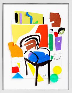"Bild ""Blauer Stuhl"" (2015) (Unikat)"