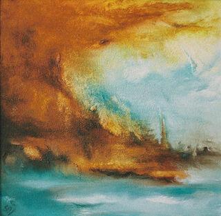 """Bild """"Stormy Waters Lagune"""" (2008) (Original / Unikat), auf Keilrahmen"""