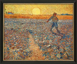 """Bild """"Sämann bei untergehender Sonne"""" (1888), gerahmt"""