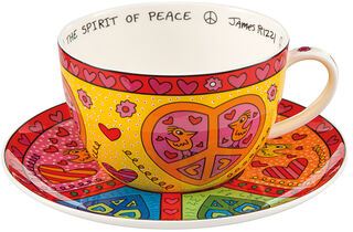 "Cappuccinotasse ""The Sprit of Peace"", Porzellan"