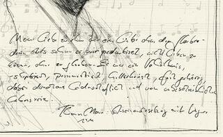 """Bild """"Liebe ohne Glauben - Thomas Mann und Richard Wagner"""" (2011), gerahmt"""