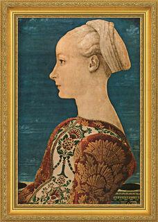 "Bild ""Junge Frau im Profil"" (1460), gerahmt"