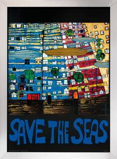 "Bild ""(777S) Save the Seas"", gerahmt"