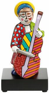 """Porzellanskulptur """"Bassgeiger"""", kleine Version"""